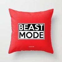 depeche mode Throw Pillows featuring BEAST MODE by Adel