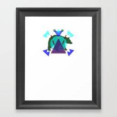 Pol∆r Kolors Framed Art Print