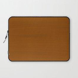 Bronze Mustard Brush Texture - Almost Solid Laptop Sleeve