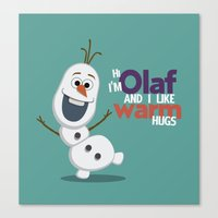 olaf Canvas Prints featuring Olaf by An Illustrated Dream