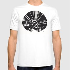 cats life: sleeping White MEDIUM Mens Fitted Tee