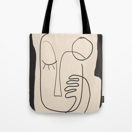 Abstract Face 4 Tote Bag
