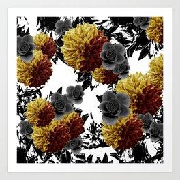 CAFFEINE FLOWERS Art Print