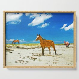 Wild Horses on Cumberland Island Serving Tray