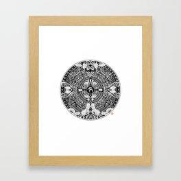 deer mandala Framed Art Print