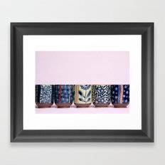 Japanese teacups Framed Art Print