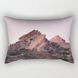 Desert Landscape at Magic Hour Rectangular Pillow