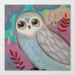 Winter Owl by cj metzger Canvas Print