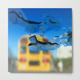yellow bus and ice photography Metal Print