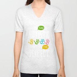 Autism Awareness Autistic Society Say I Am Perfect TShirt Unisex V-Neck