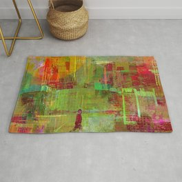 Walk in the city Rug