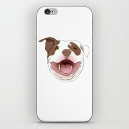White/Brown Pitbull iPhone Skin