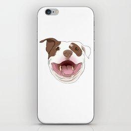 White/Brown Pitbull iPhone Skin