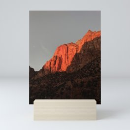 Towering Mountains   Clear Sky   Vertical Landscape Photography  Mini Art Print