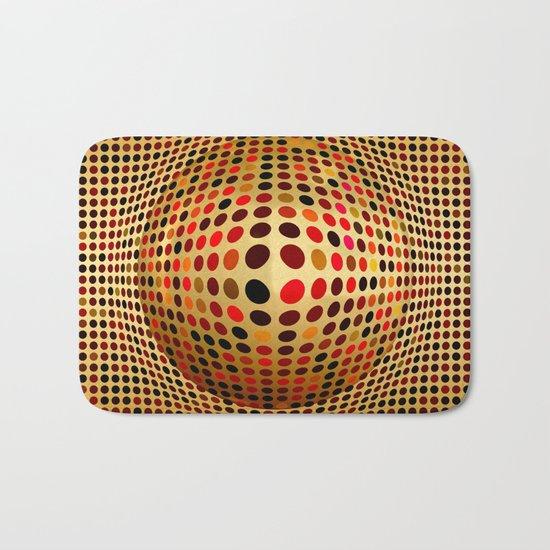 Ball illusion art Bath Mat