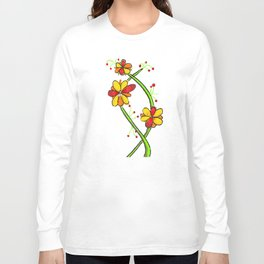 a colourful floral design Long Sleeve T-shirt