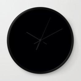 Plain Black Wall Clock