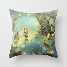 Firefly Forest Throw Pillow