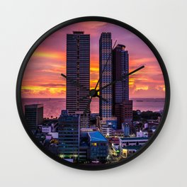 Manila Philippines Skyline Wall Clock