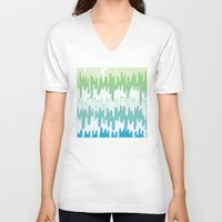 trippy V-neck T-shirts featuring Trippy Drippys by Joe Van Wetering