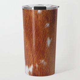 Tan Cowhide Smooth Texture Travel Mug