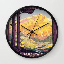 Vintage poster - En Tarentaise, France Wall Clock