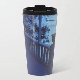 porch snow. Travel Mug