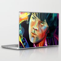 sam winchester Laptop & iPad Skins featuring Sam Winchester in Color by thefluidlines