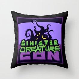 Sinsiter Creature Con Square Logo Throw Pillow