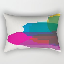 Shapes of Montreal. Accurate to scale. Rectangular Pillow