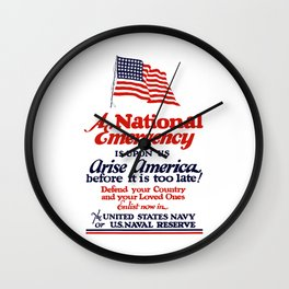 Arise America -- Enlist Now In The United States Navy Wall Clock