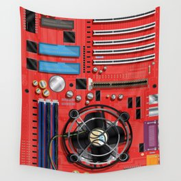 Computer Motherboard Electronics. Wall Tapestry
