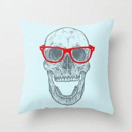 Smart-Happy Skully Throw Pillow
