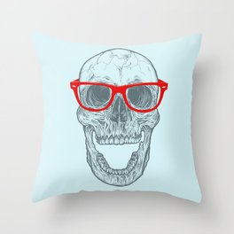 Smart-Happy Skully Throw Pillow