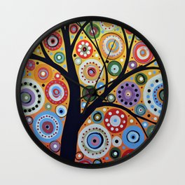 Abstract Art Landscape Original Painting ... Sun Arising Wall Clock