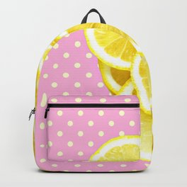 Candy Pink and Lemon Polka Dots Backpack