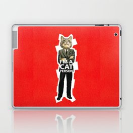Cat Person Laptop & iPad Skin