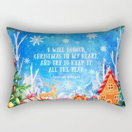 I will honour christmas in my heart Rectangular Pillow