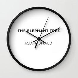 The Elephant Tree  —  R.D. Ronald Wall Clock