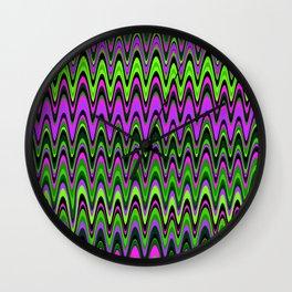 Making Waves Neon Lights Wall Clock