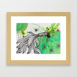 Beauty and the Death Machine Framed Art Print