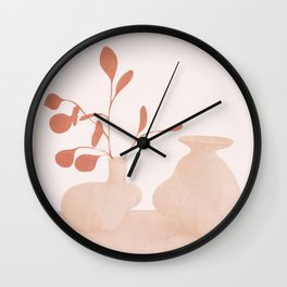 Minimal Branches and Vases Wall Clock