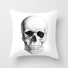 Human Skull Skeleton Throw Pillow