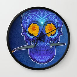 Sugar skull 3rd eye Wall Clock