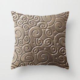 Copper volute Throw Pillow