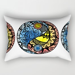 Yin Yang Fire and Ice Tangle Rectangular Pillow