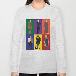 doctor who characters Long Sleeve T-shirt