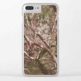 Wetland Trees (colour) Clear iPhone Case