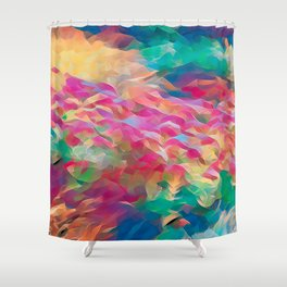 Floral Art Abstract Shower Curtain