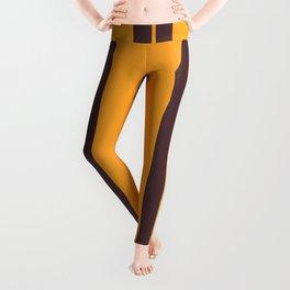 Retro Vintage Striped Pattern Leggings